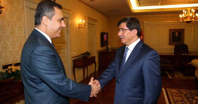 Başbakan Davutoğlu, Akar ve Fidan'ı kabul etti