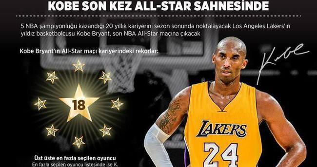 Kobe son kez all-star sahnesinde