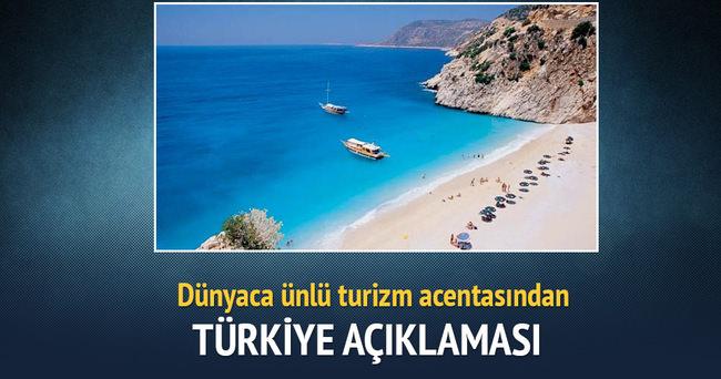 Dünyaca ünlü turizm acentasından Türkiye açıklaması