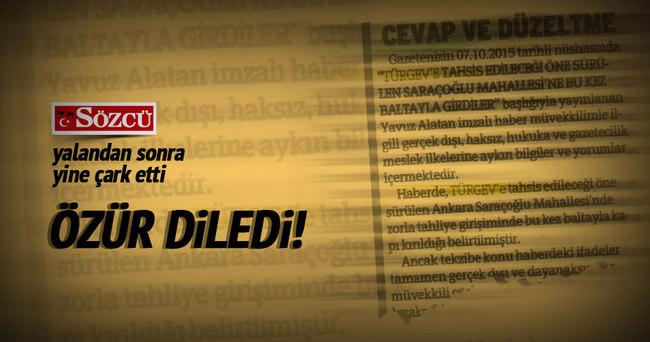 Sözcü yalan haberden sonra TÜRGEV'den özür diledi