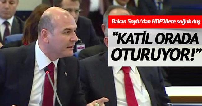 Soylu'dan HDP'lilere: Katil orada oturuyor!