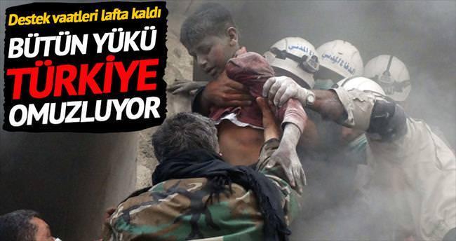 Yükü, Türkiye omuzluyor