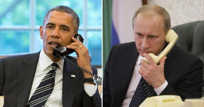 Obama ve Putin telefonda Suriyeyi görüştü