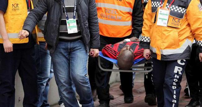 Gaziantepsporlu Desire hastaneye kaldırıldı