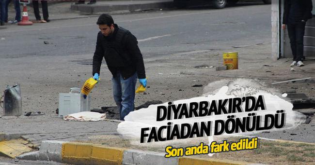 Diyarbakır'da faciadan dönüldü...