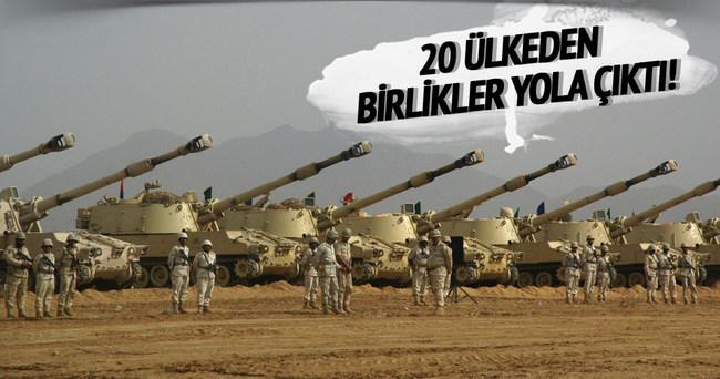 20 ülkeden askeri birlikler yolda