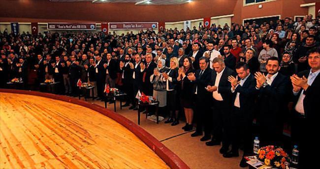 Erdoğan konferansı ayakta alkışlandı