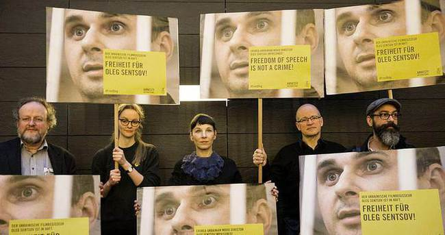 Berlin Film Festivali'nde protesto gösterisi