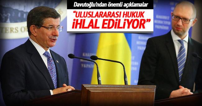 Davutoğlu ve Yatsenyuk ortak basın toplantısı düzenledi