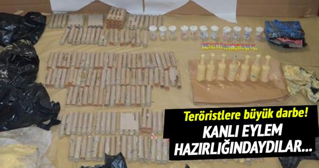 Eylem hazırlığındaki teröristlere büyük darbe!