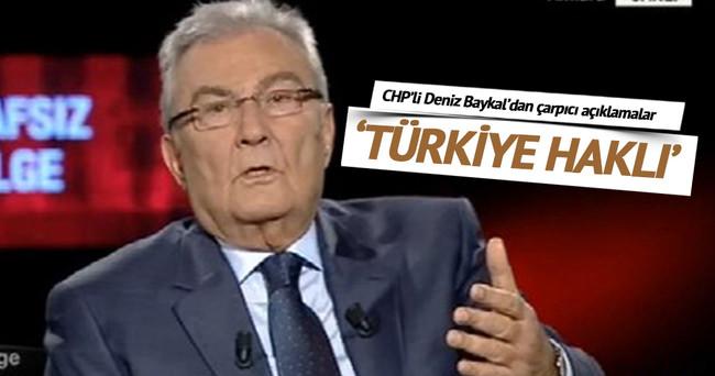 Deniz Baykal: Türkiye'nin YPG'yi bombalama hakkı vardır