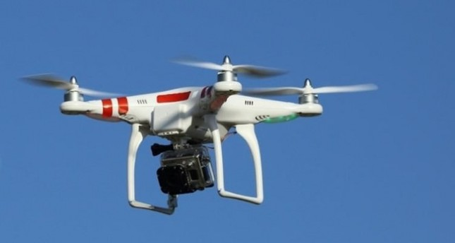 Şüpheli 'drone' anında vuruldu!