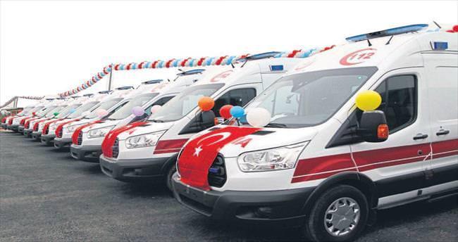 Kahramanmaraş'ta ambulans dağıtımı