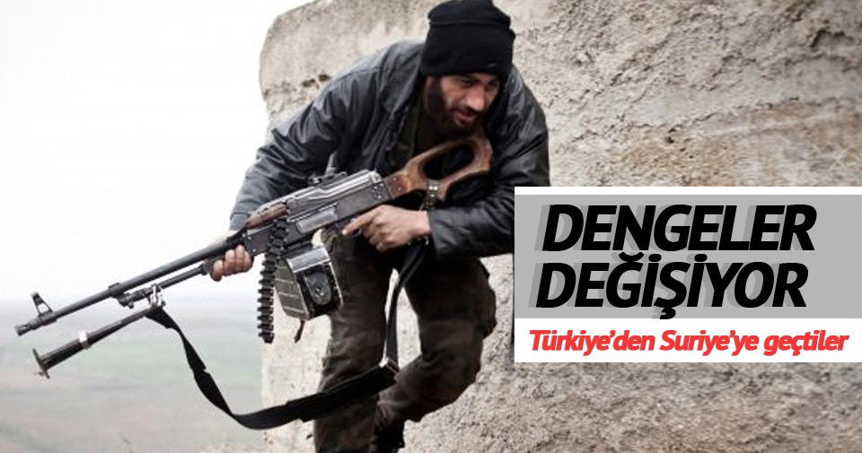 500 savaşçı Türkiye üzerinden Azez'e geçti