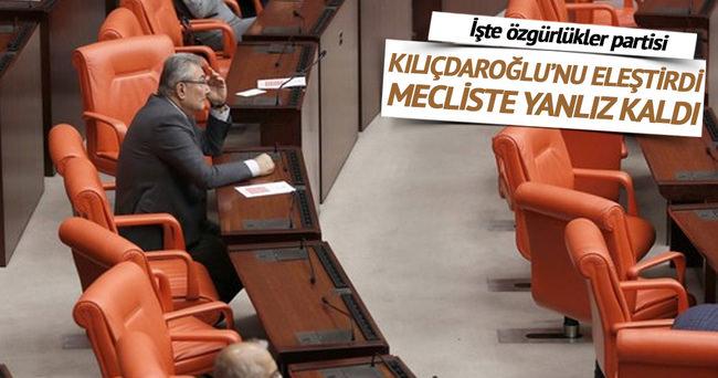 Kılıçdaroğlu'nu eleştirdi yanlız kaldı