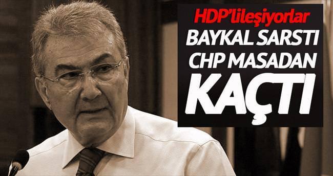 Baykal sarstı CHP masadan kaçtı