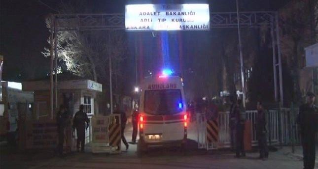 Saldırının kurbanları Adli Tıp'a getirildi