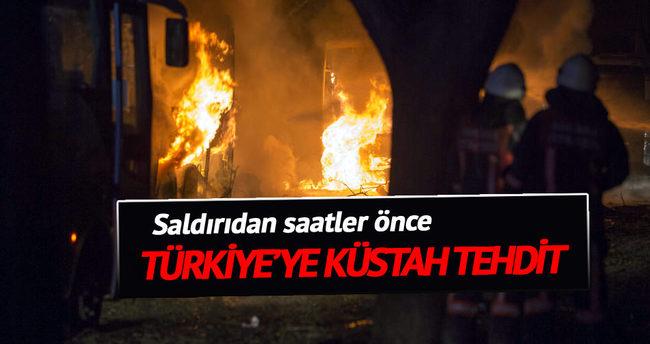 Ankara saldırısından saatler önce tehdit etmişti
