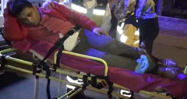 Evinin önünde ayaklarından vuruldu