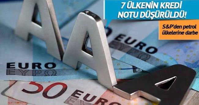 7 ülkenin kredi notu düşürüldü