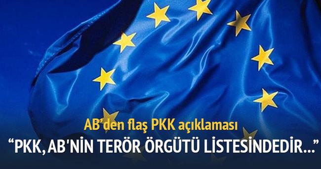 AB'den terör örgütü PKK açıklaması