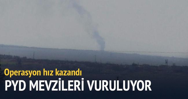 PYD mevzileri vuruluyor