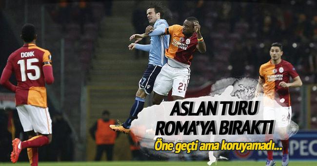 Galatasaray Lazio'yla yenişemedi
