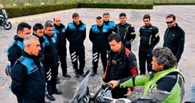 Zabıta ekiplerine ileri sürüş eğitimi