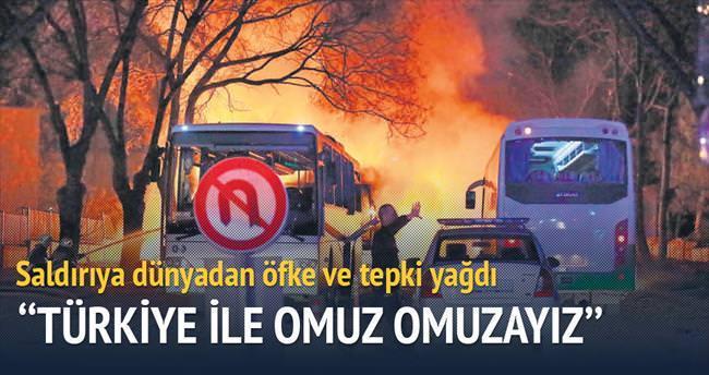 Teröre karşı Türkiye ile omuz omuzayız