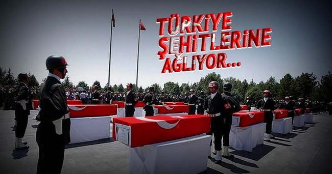 Türkiye şehitlerini uğurladı...