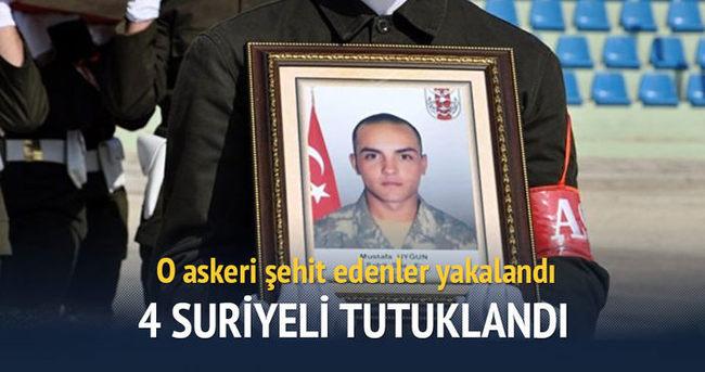 Asker şehit eden 4 Suriyeli tutuklandı