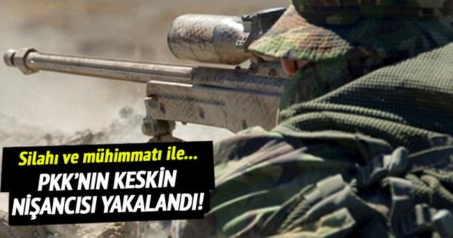 PKK'nın keskin nişancısı yakalandı!