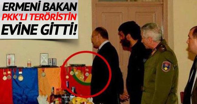 Ermenistan Savunma Bakanı PKK'lı teröristin evini ziyaret etti