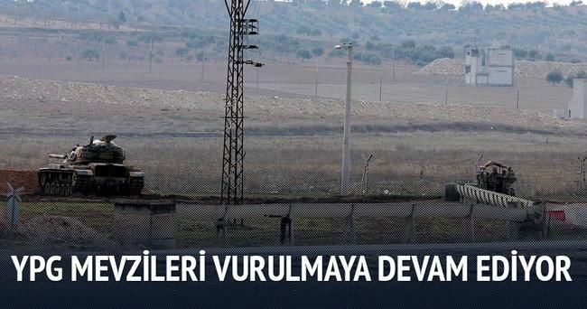 YPG mevzileri 9. günün akşamında da vuruluyor