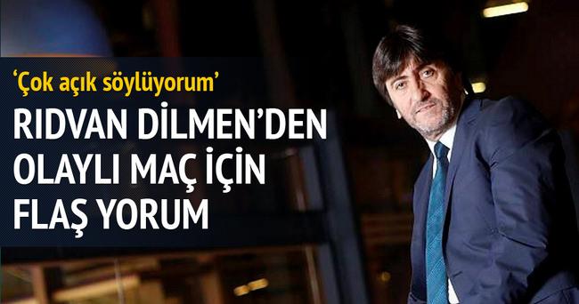Rıdvan Dilmen'den olaylı maç için flaş açıklama