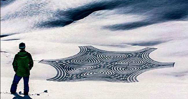 Kar üzerinde sanat
