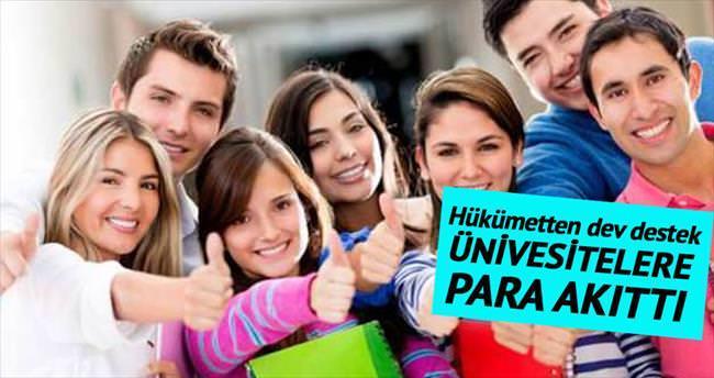 Hükümet üniversitelere para akıttı