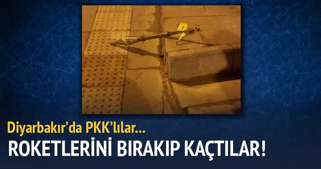 Diyarbakır'da polise saldıran PKK'lılar roketi bırakıp kaçtı