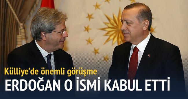 Erdoğan, Gentiloni'yi kabul etti
