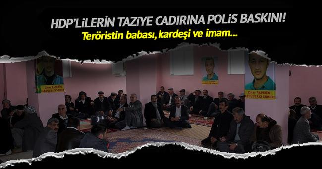 PKK'lıların taziye çadırı hakkında soruşturma!