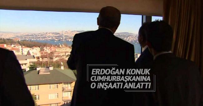 Erdoğan, Konuk Cumhurbaşkanı'na Çamlıca Camii'nin inşaatını gösterdi