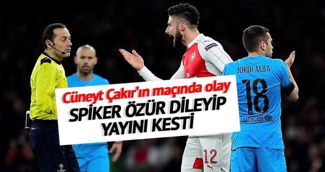 Dev maçta Cüneyt Çakır'a küfür şoku