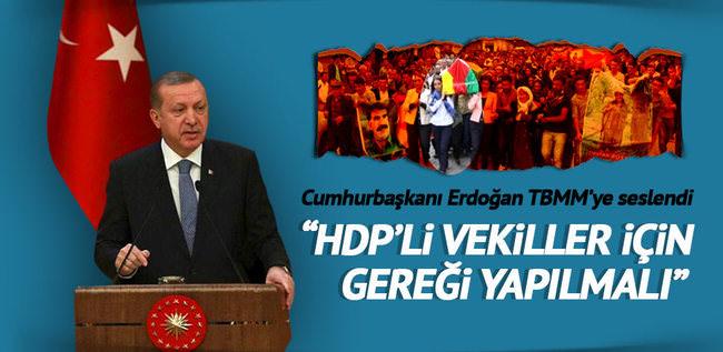 Erdoğan: Meclis gereğini yapmalıdır