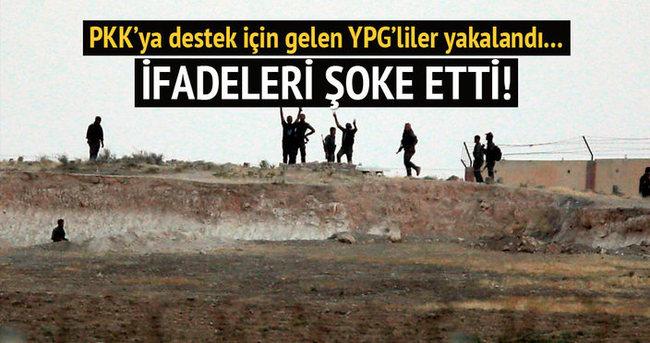 PKK'lılara desteğe giden YPG'liler yakalandı