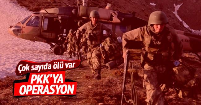PKK'ya operasyon çok sayıda ölü var