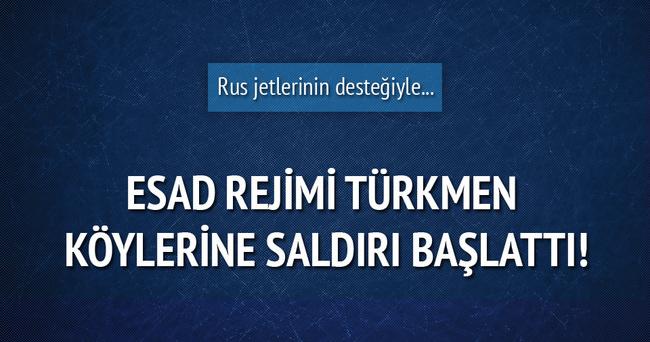 Esad Türkmenlere saldırı başlattı