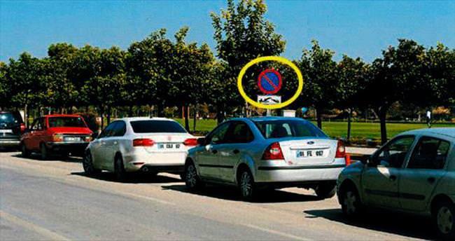 Sürücüler otopark yasağını ihlal ediyor