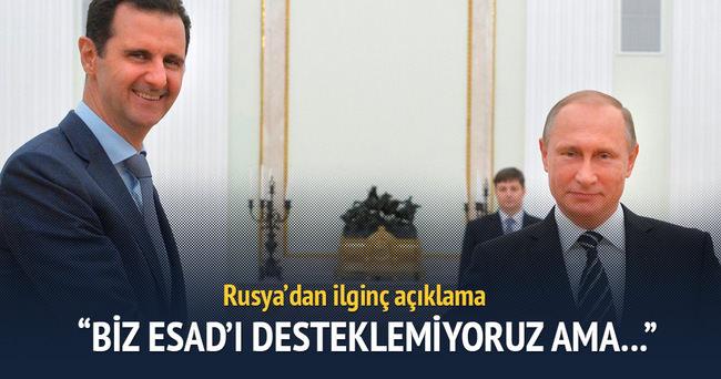Rusya'dan ilginç Esad açıklaması