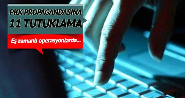 Sosyal medyadan PKK propagandası yapan 11 kişi tutuklandı