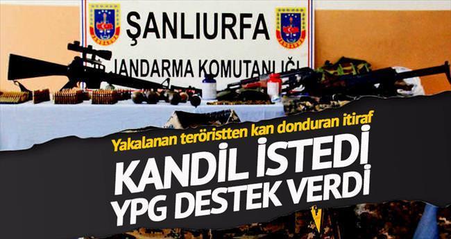 Kandil istedi, YPG destek verdi